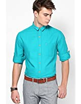 Aqua Blue Casual Shirt (Trim Fit) John Players