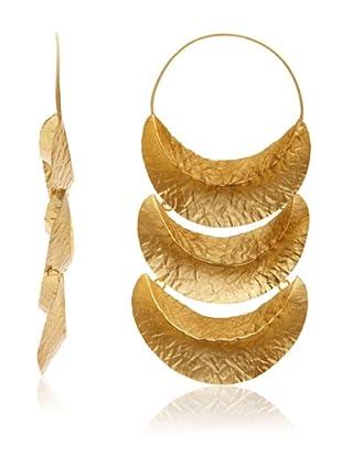 Kevia Triple Pod Hoop Earrings, Gold