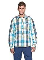 Salewa Camisa Curt PL (Blanco / Turquesa)