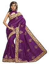 Surat Tex Violet Bhagalpuri Silk online sarees with Unstitched Blouse