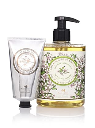 Panier des Sens Energizing Verbena Liquid Soap and Hand Cream, Set of 2