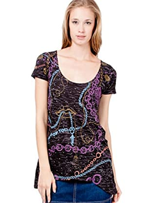 Custo Camiseta Starn Chains (Negro / Morado)