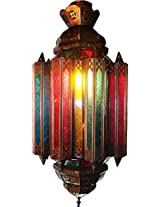 Al Noor Metal & Glass Wall Light (Multicolor)