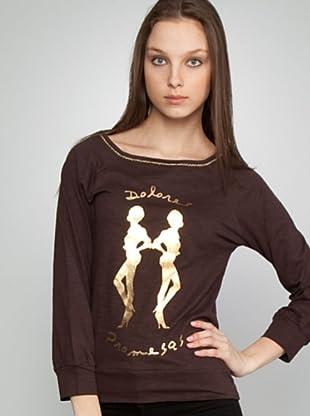 Dolores Promesas Camiseta Silueta (marrón)
