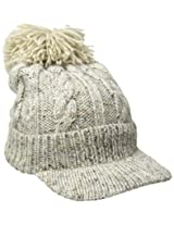 Woolrich Women's Wool Blend Chunky Cable Knit Natural Slouch Radar