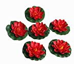 POLLINATION RED SMALL FLOATING LOTUS ARTIFICIAL FLOWERS