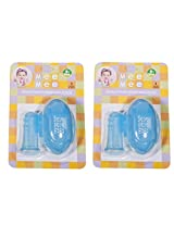Mee Mee Finger Brush with Storage Case (Pack of 2, Blue)