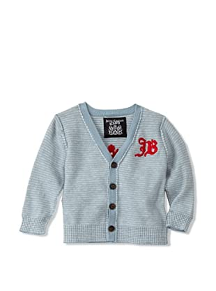 Juicy Baby Button-Up Cardigan (Heather Blue)