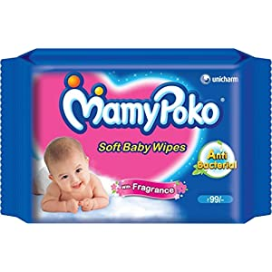 Mamy Poko Soft Baby Wipes with Fragrance (50 Sheets)