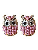 Glitz Fahsion Charm Beads Stud Cute Owl Earrings for Women