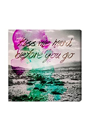 Oliver Gal Kiss Me Hard Before You Go Canvas Art
