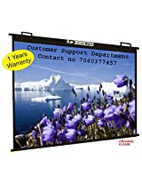 Luzon Dzire Map Type Projector Screen, 6 W x 4 H(IN IMPORTED HIGH GAIN FABRIC A+++++ GRADE)