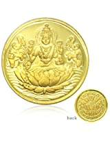 Goddess Laxmi-1 Gram, 99.90 purity Gold coins (Shree Yantra engraved on back side of coin)