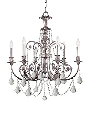 Gold Coast Lighting Sylvie Chandelier, Old Silver