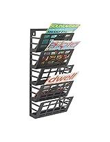 Safco Products 4661BL Grid Magazine Rack, 5 Pocket, Black