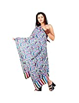 Little India Designer Reversible Pure Kashmiri Scarf Stole -106 (Multi-Color)