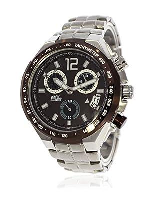 Pit Lane Uhr mit Miyota Uhrwerk Pl-1002-3 silberfarben 45 mm