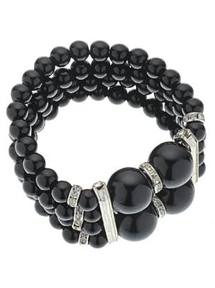 Anna Biblò Bracciale Perle nero