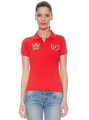 Polo Club Polo manga corta Custom Fit Escudo Real (Rojo)