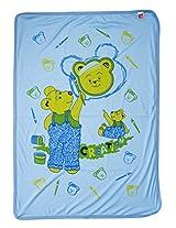 LOVE BABY REGULAR PRINTED TOWEL WITHOUT HOOD 1907 REGULAR TOWEL BLUE
