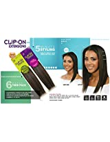 Bobbi Boss 100% Human Hair Clip On Extensions Instant Length & Volume 6 Pieces Single Pack 14