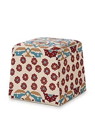 Jamie Young Charlee Ottoman (Cream/Multi)