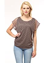 Suhi Womens Net Tops -Brown -Free Size