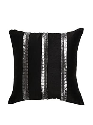Pleat Pillow, Black/Silver, 18
