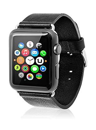 UNOTEC Uhrenband für Smartwatch Apple Watch 42 mm schwarz
