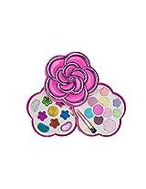 Okk Toys Girl Makeup Play Set Kit Flower Shaped Case Pretend Princess Vamp Rock