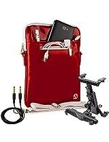 Vg Inc Laptop Messenger Bag (Red)