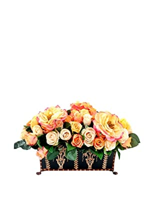 Creative Displays Assorted Roses in Rectangular Toll Planter, 16x13x25