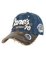 ililily Distressed Vintage Cotton embroidered Baseball Cap Snapback Trucker Hat (ballcap-507-10)