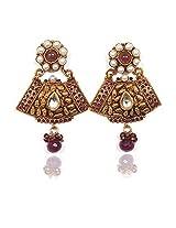 Sunehri Vintage Ruby Earrings for Women