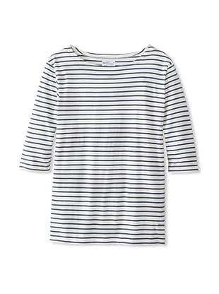 GANT Rugger Men's The Breton Striped Roll-Up Sleeve Knit Shirt (Indigo Blue)