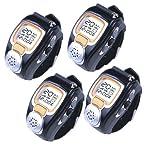 AGPtek Fashionable Wristwatch Walkie Talkie Spy Wrist Watch (4-pack)