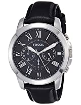 Fossil Grant Chronograph Black Dial Men's Watch - FS4812I