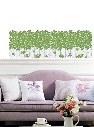 Ambiance Live Vinilo Adhesivo Clovers Fence Wall Decal