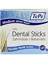 Tepe Dental Sticks - Medium with Flouride (125 Pieces/Packet)