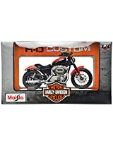 Maisto Harley Davidson 2007 XL 1200N Nightster Red Scale-1:18 Die Cast Toy Motorcycle (Red & Black)