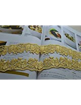 Hight quality lace fabrics embroidered lace trim (Golden yellow)