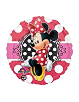 Minnie Mouse Dotted 18inch Mylar Balloon 3pk
