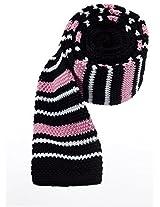 Scott Allan Men's Knit Necktie - Black/Pink