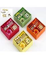 Ghasitaram Gifts Set of 4 Incense Sets with 400 gms kaju Katli