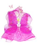 MBGiftsGalore Butterfly Wings With Skirt - Dark Pink