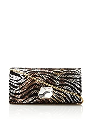 Inge Christopher Women's Portia Animal Print Clutch, Black/Multi