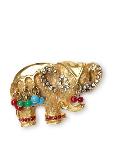 Lulu Frost 1950's Art Deco Elephant Brooch, Gold