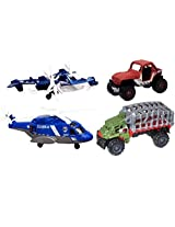 Matchbox Jurassic World Land and Air Vehicle Collection - 4 Total Vehicles
