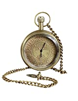Classic Smooth Vintage Roman Numeral Metal Gold Color Mens Womens Pocket Watch - 1.8 Inch