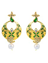 Touchstone Glittery Bridal Hanging Earrings DGETE082-01KA-G